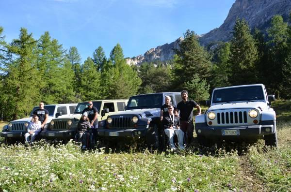 Gruppo 2^esperienza con Jeep Wrangler - Val di Thures